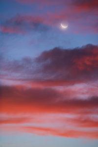 Lune au lever du soleil