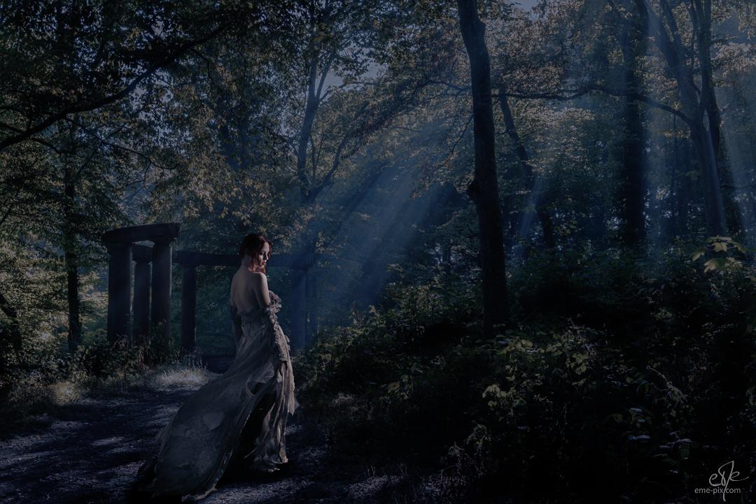 cachée dans la forêt